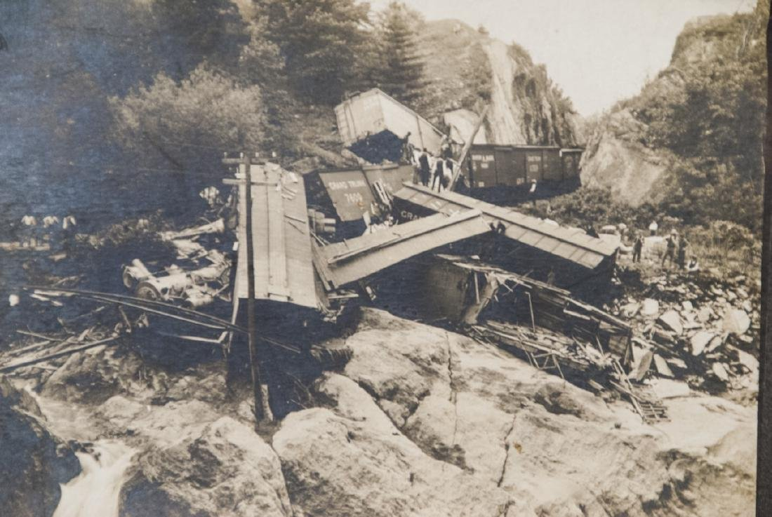 Antique Grand Trunk Train / Railway Accident Photo - 2