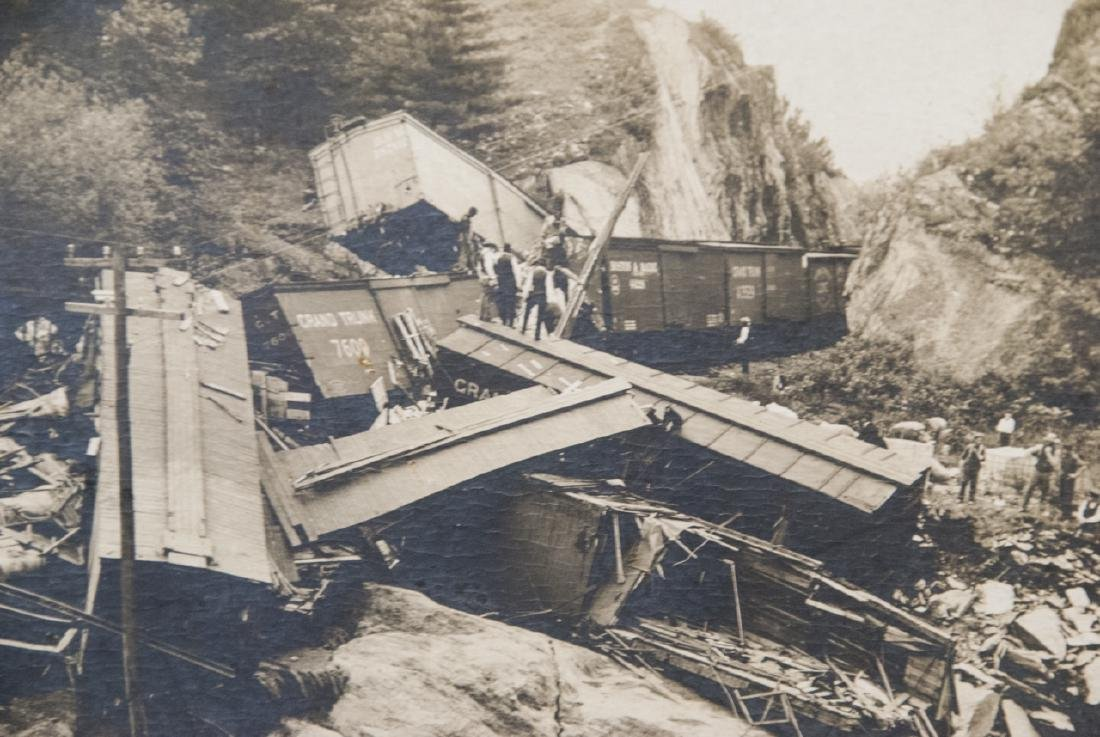 Antique Grand Trunk Train / Railway Accident Photo - 3