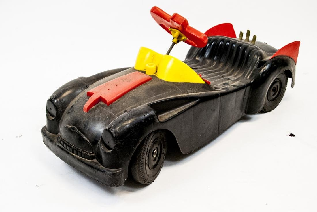 Vintage Plastic Toy Car Batman's Bat Mobile