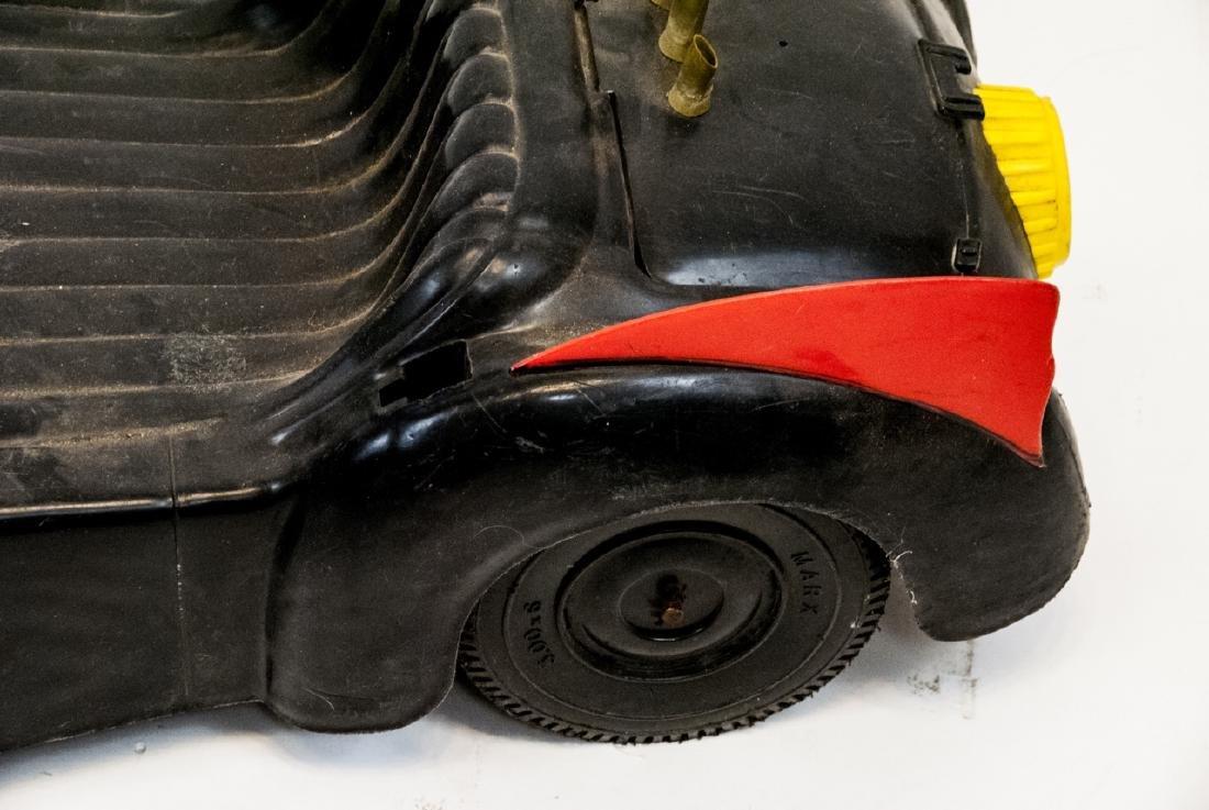 Vintage Plastic Toy Car Batman's Bat Mobile - 7
