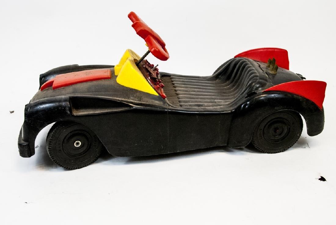 Vintage Plastic Toy Car Batman's Bat Mobile - 8