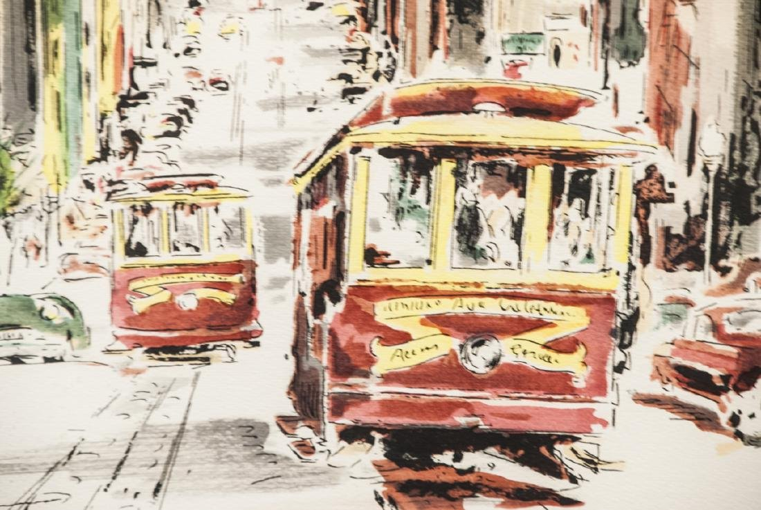 Framed & Matted Print of San Francisco Cable Cars - 2