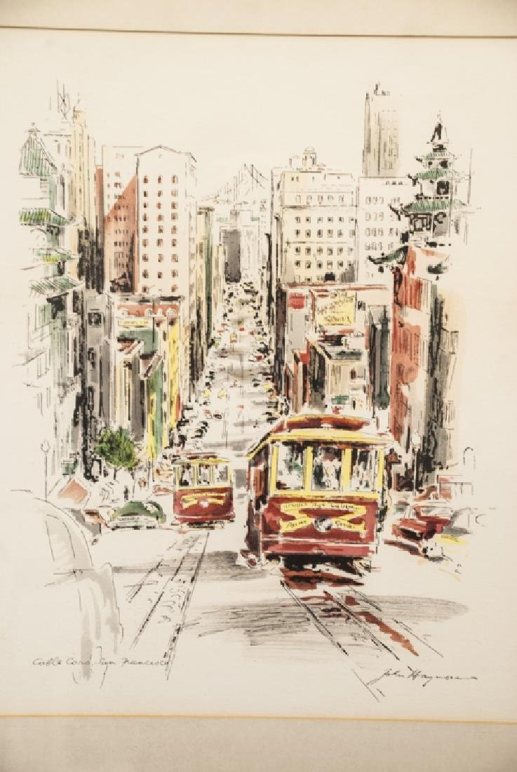 Framed & Matted Print of San Francisco Cable Cars - 3