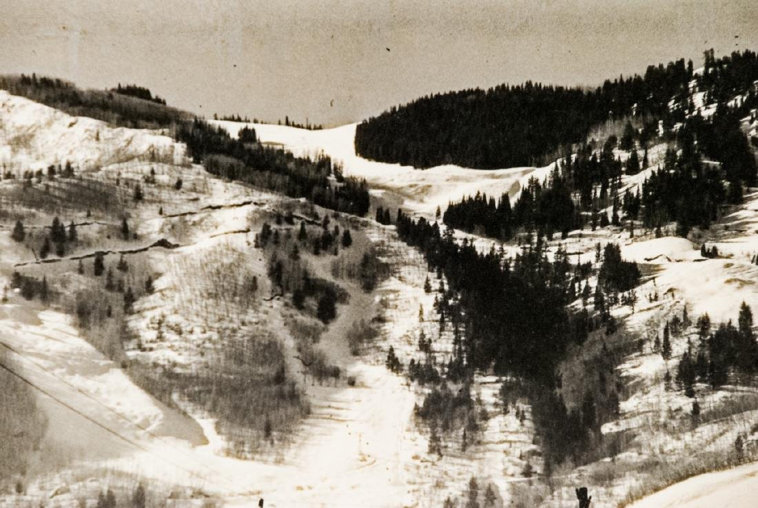 Framed & Signed B/W Photo of Aspen Mountain 1948 - 2
