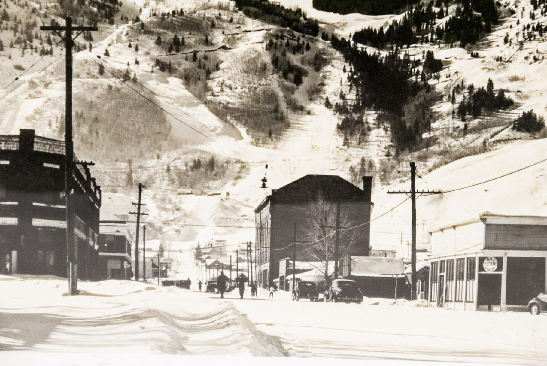 Framed & Signed B/W Photo of Aspen Mountain 1948 - 4