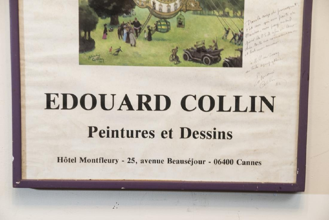 Framed French Poster, Signed by Edouard Collin - 3