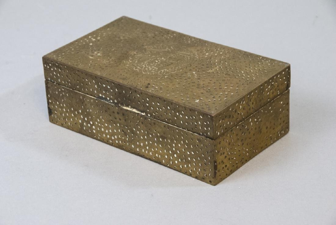 Chinese Chased Brass & Silver Plate Jewelry Boxes - 2