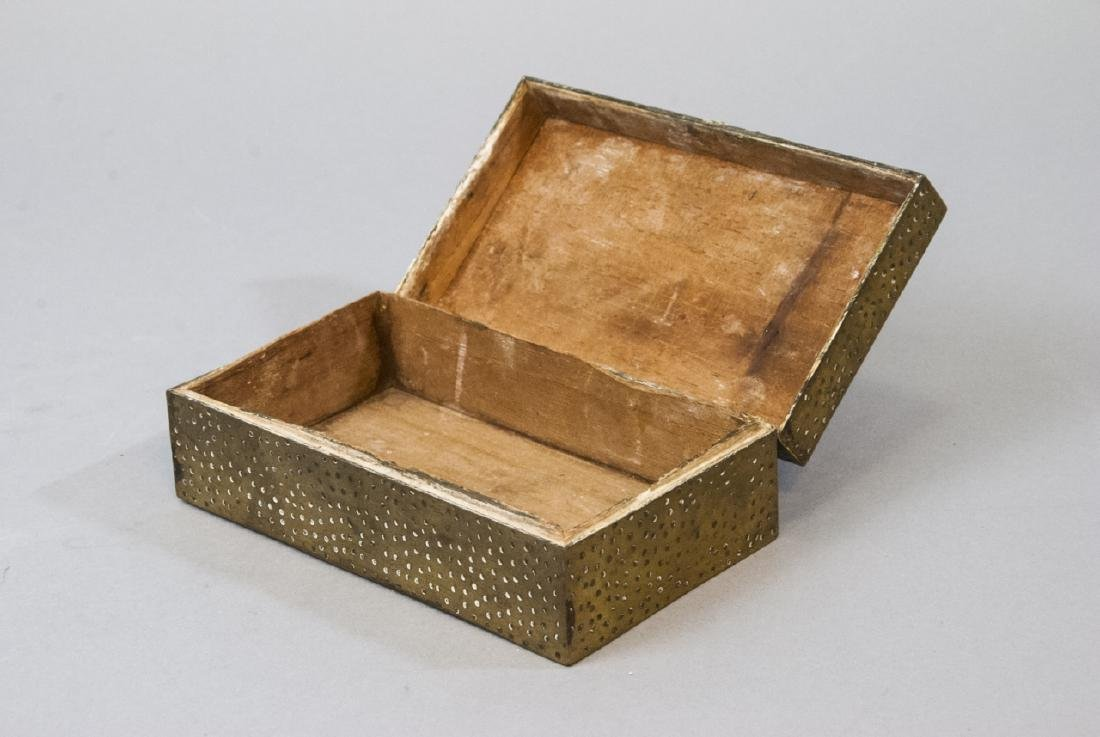 Chinese Chased Brass & Silver Plate Jewelry Boxes - 3
