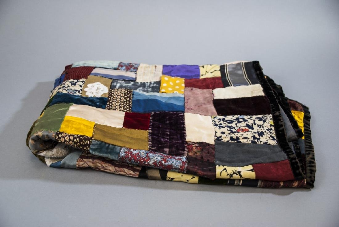 Antique American Hand Sewn Patchwork Quilt