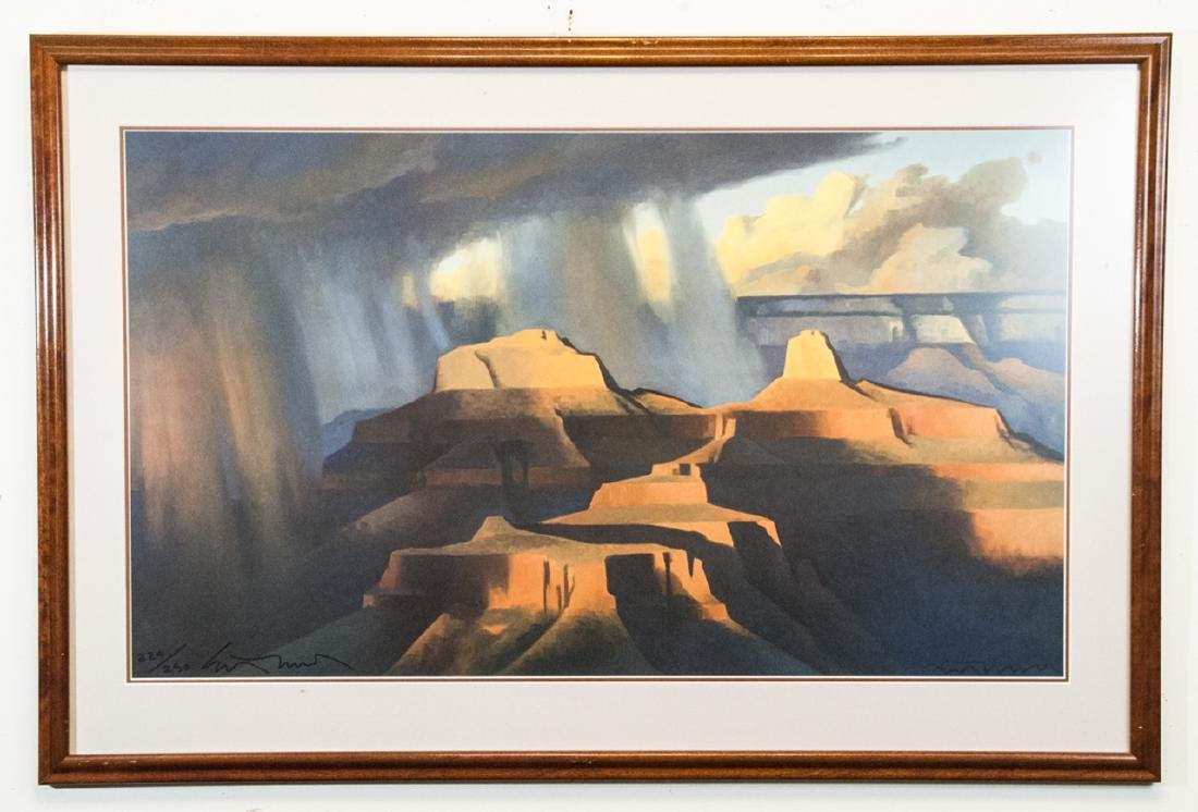 20th Century Framed Signed Print of Grand Canyon