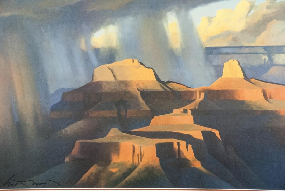 20th Century Framed Signed Print of Grand Canyon - 2