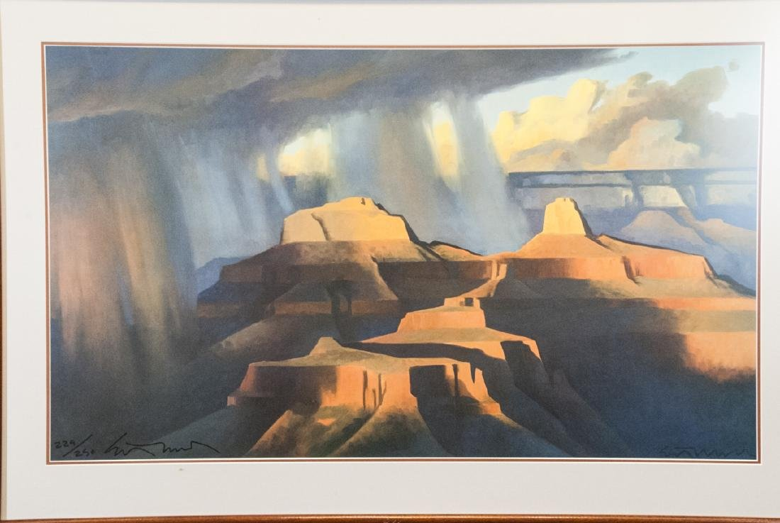 20th Century Framed Signed Print of Grand Canyon - 3