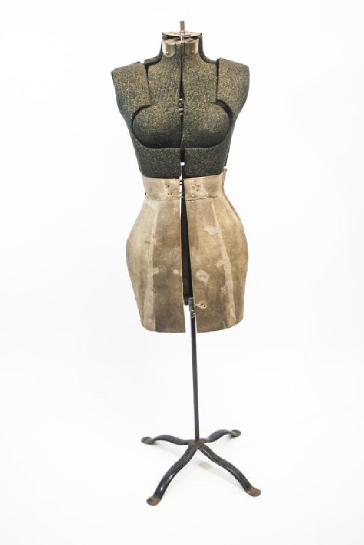 Vintage Adjustable Dress Form on Pedestal