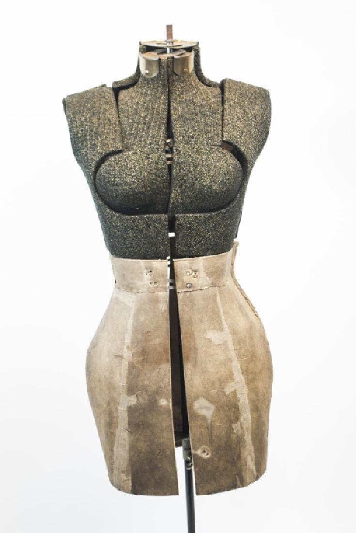 Vintage Adjustable Dress Form on Pedestal - 2