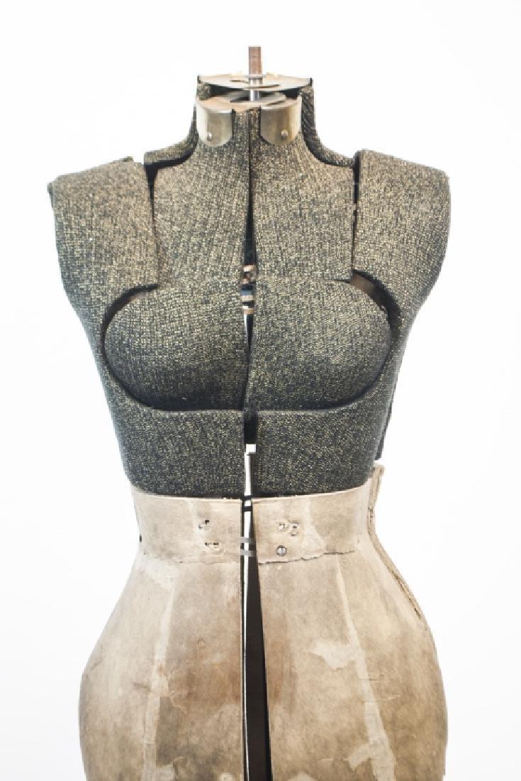 Vintage Adjustable Dress Form on Pedestal - 3