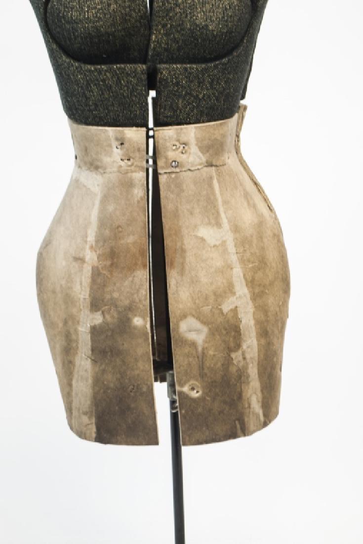 Vintage Adjustable Dress Form on Pedestal - 4