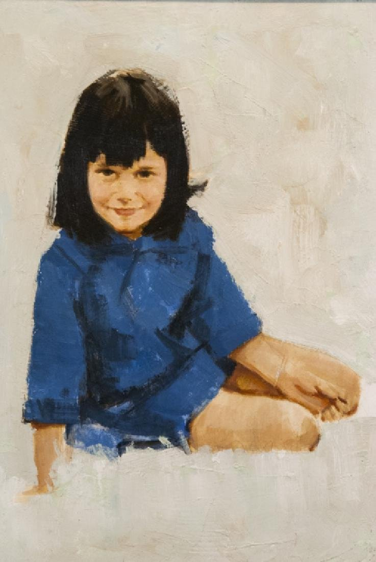 James Alfred Meese - Portrait Painting of a Girl - 3