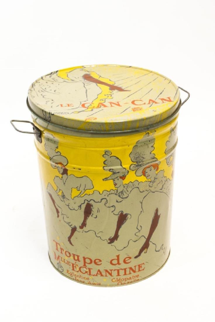 Vintage Henri de Toulouse-Lautrec Decorative Tin