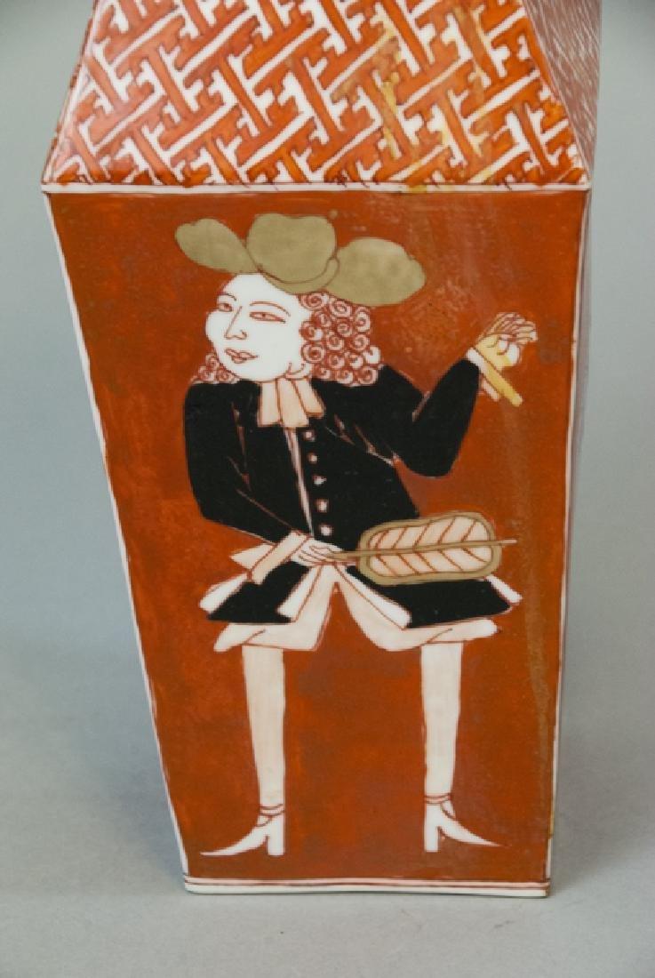 Chinese Export Style Porcelain Dish & Vase - 4