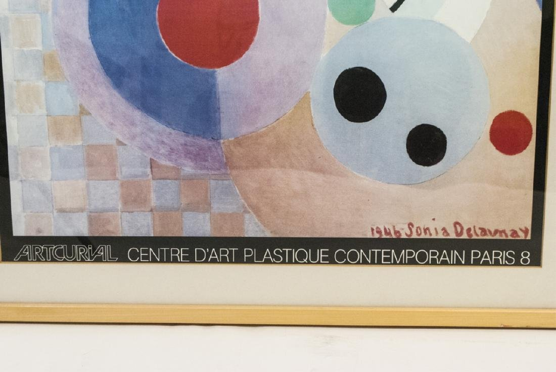 Pair Blond Wood-Framed Artist Posters Incl Chagall - 4