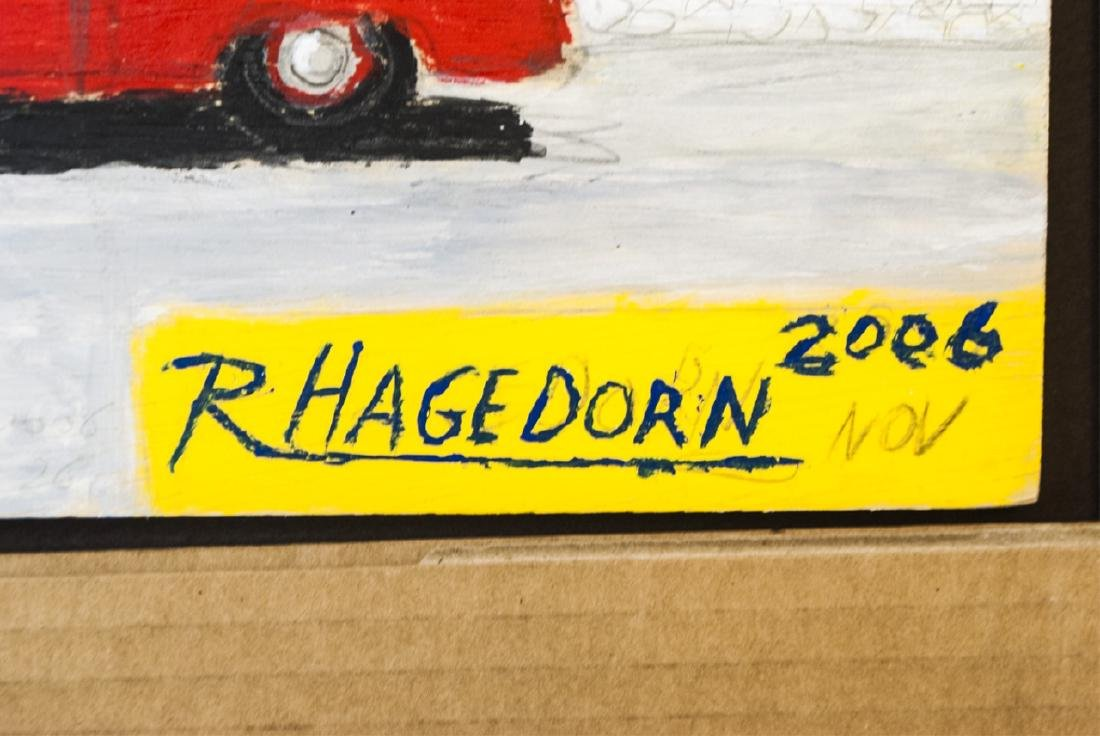 Ricky Hagedorn - Signed Car Painting on Board - 2