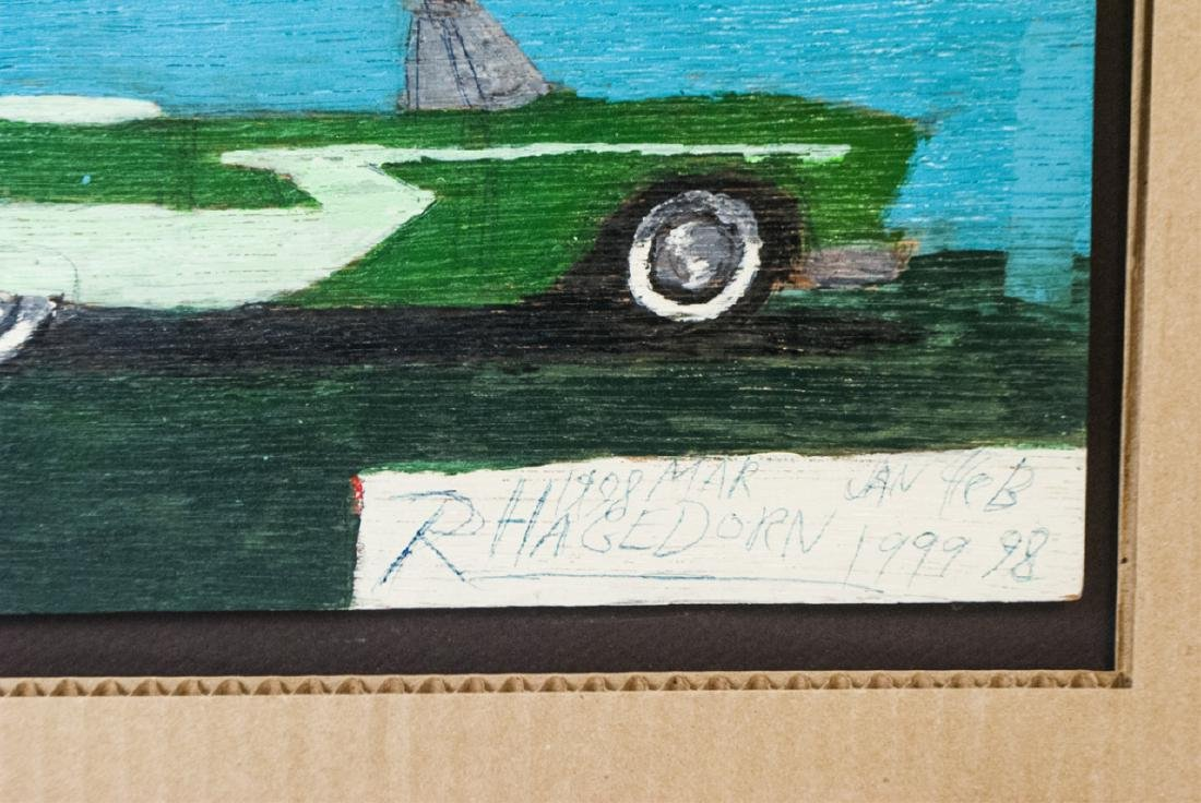 Ricky Hagedorn - Signed Car Painting on Board - 5