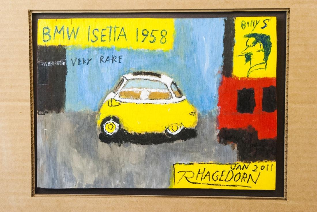 Ricky Hagedorn - Signed Car Painting on Board