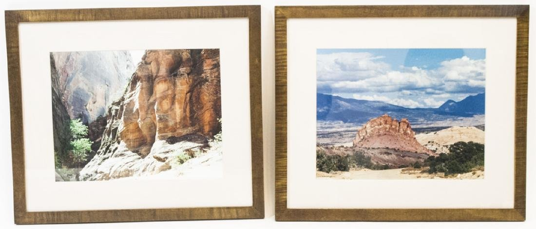 Pair Framed Southwest/Grand Canyon Photographs