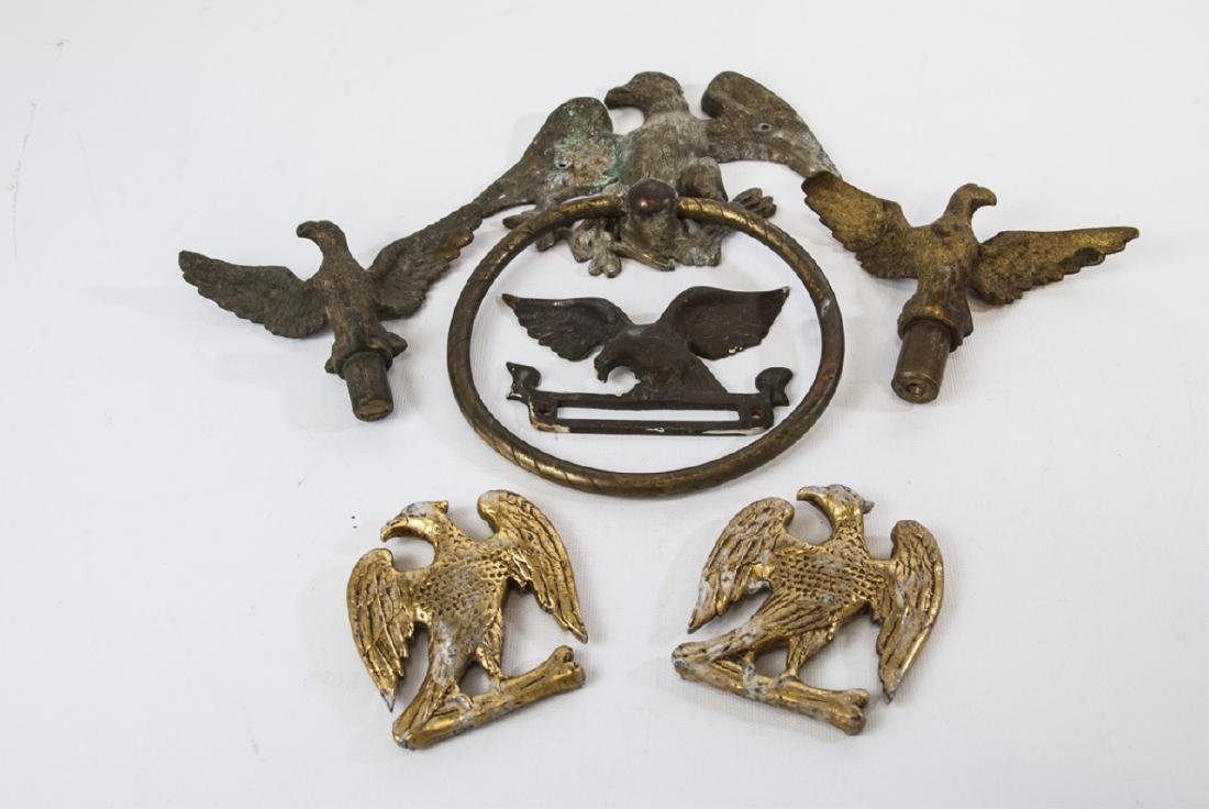 Collection of Metal Eagle Mounts & Hardware
