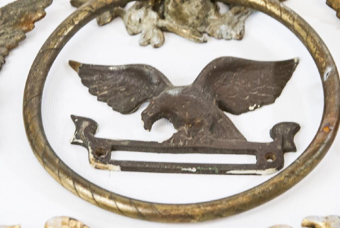 Collection of Metal Eagle Mounts & Hardware - 2