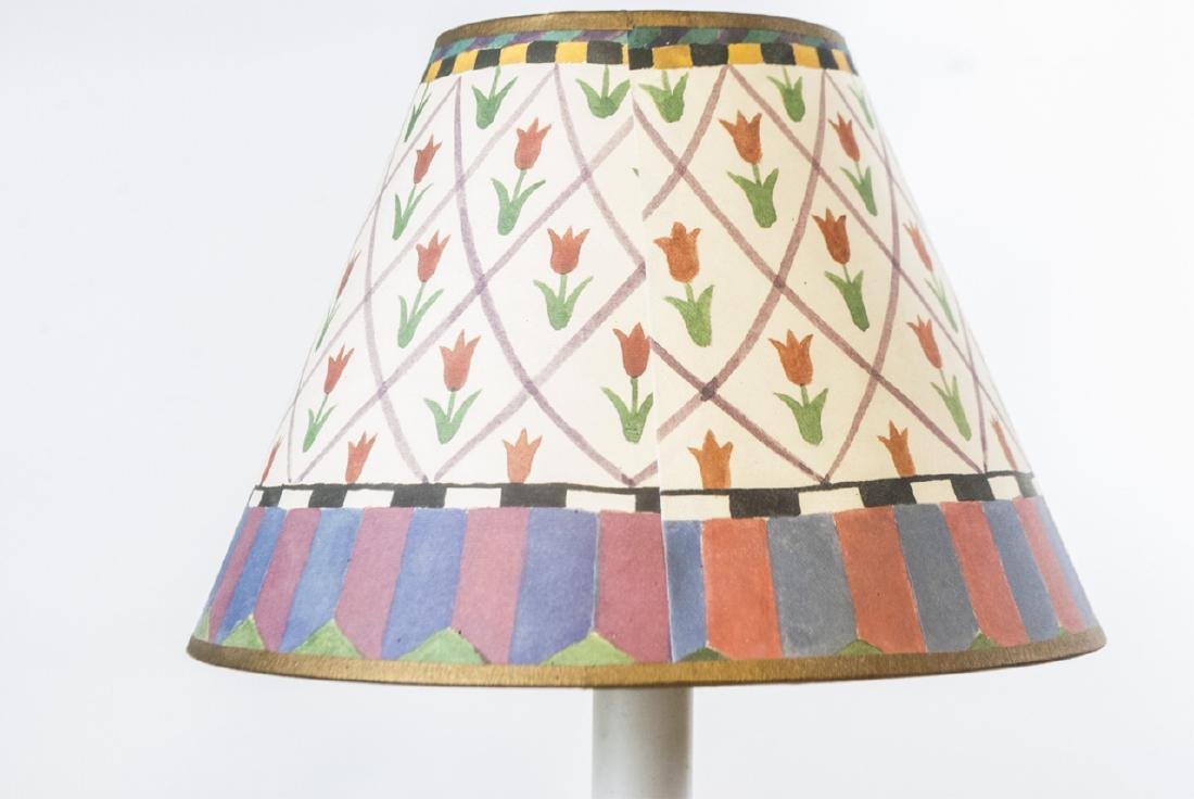 French Pottery Mount Lamp & Hand Painted Lamp - 3
