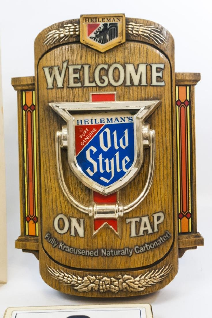 Collection Vintage Beer & Bar Signs Incl Light-Up - 3