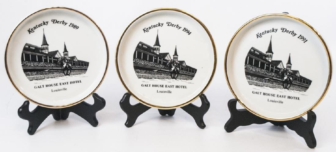 3 Porcelain Plates Commemorating Kentucky Derby