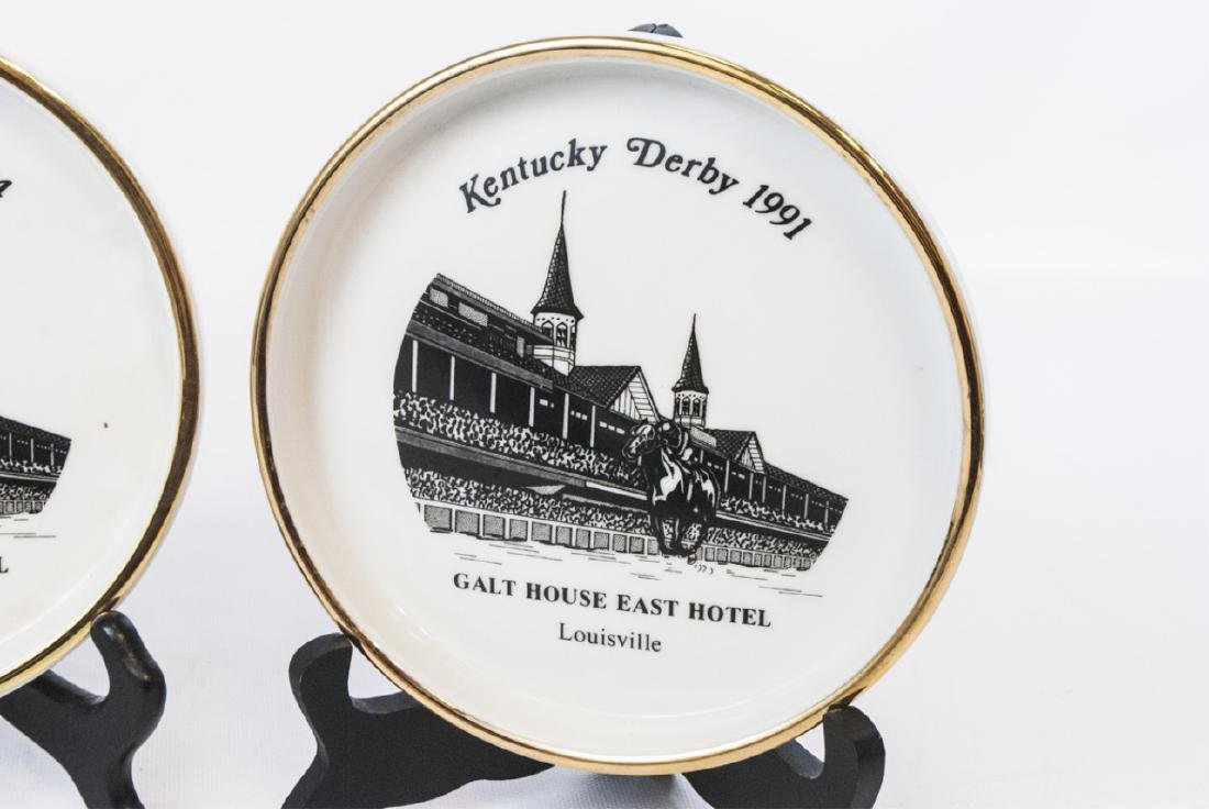 3 Porcelain Plates Commemorating Kentucky Derby - 2