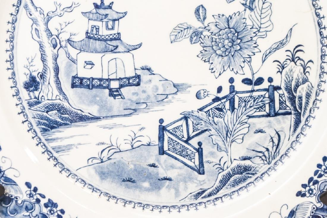 Chinese Canton Blue & White Porcelain Charger - 5