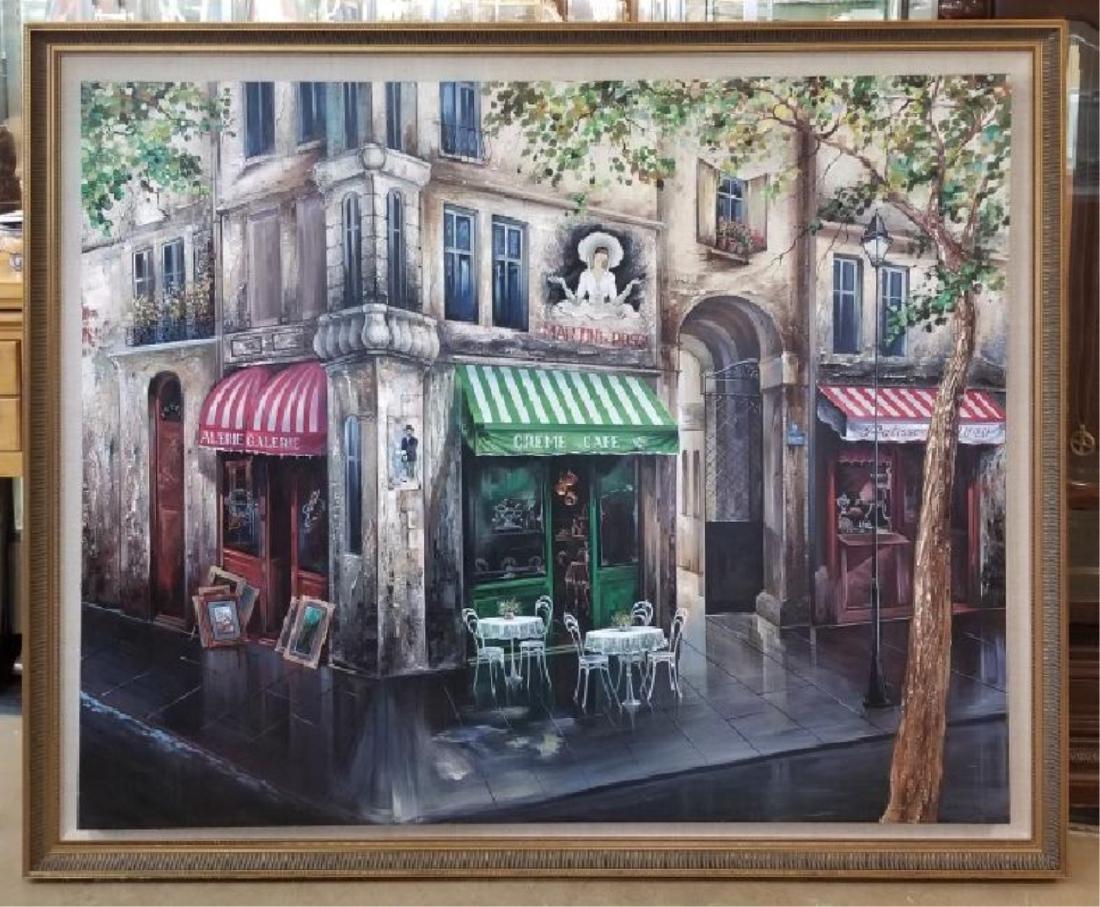 Mark St. John Signed Framed Paris Oil Painting