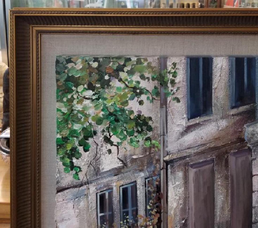 Mark St. John Signed Framed Paris Oil Painting - 3