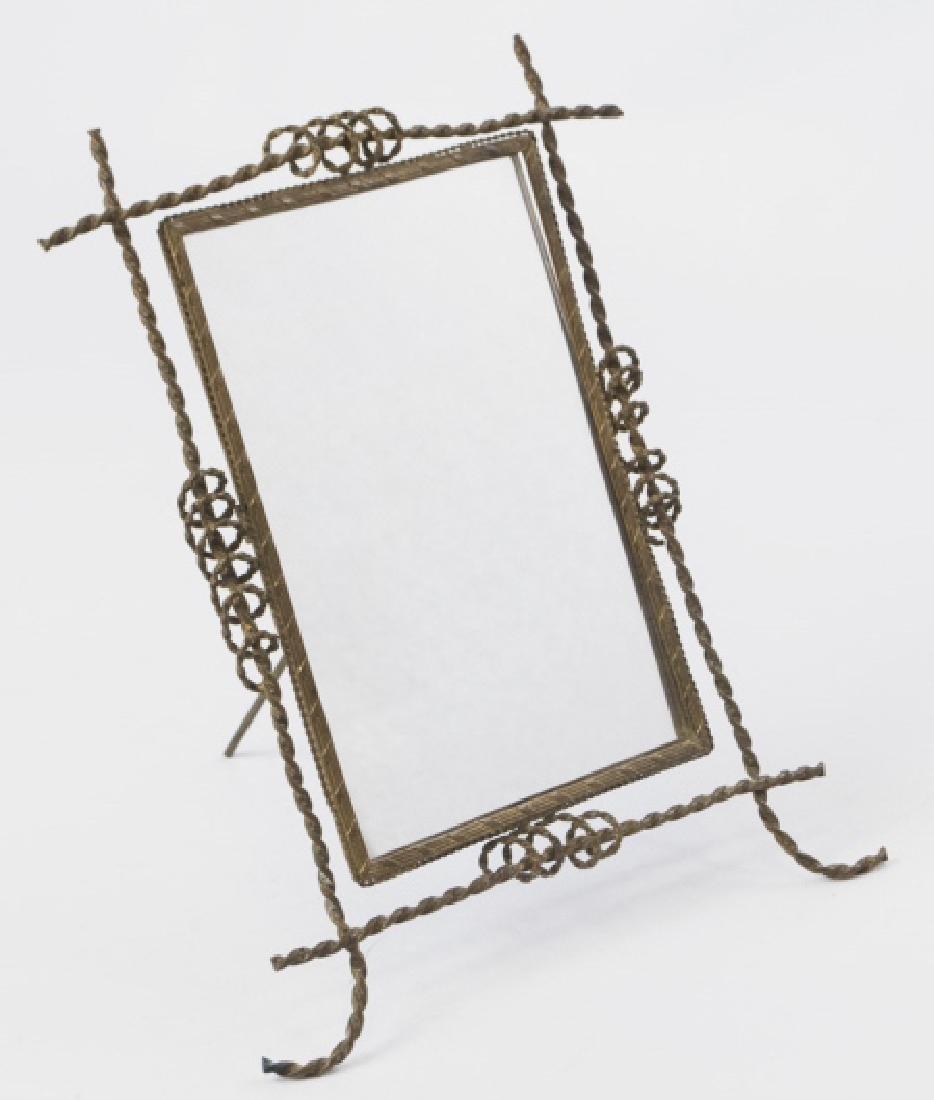 Antique 19th C Gilt Ormolu Framed Table Mirror