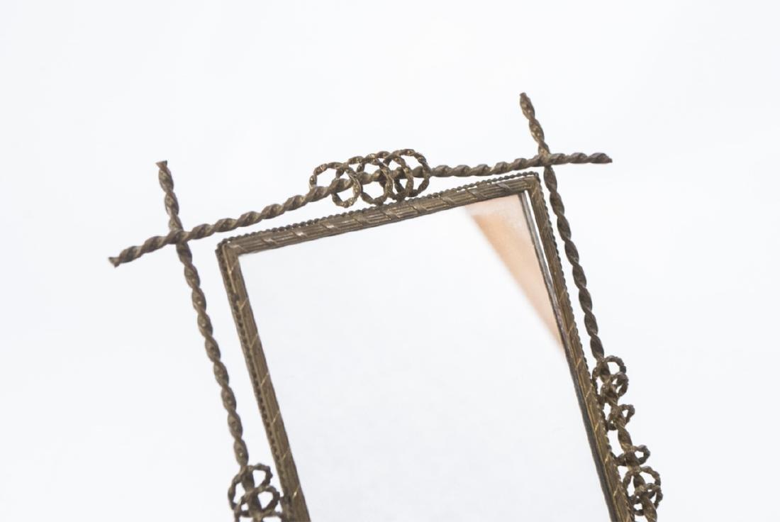 Antique 19th C Gilt Ormolu Framed Table Mirror - 2