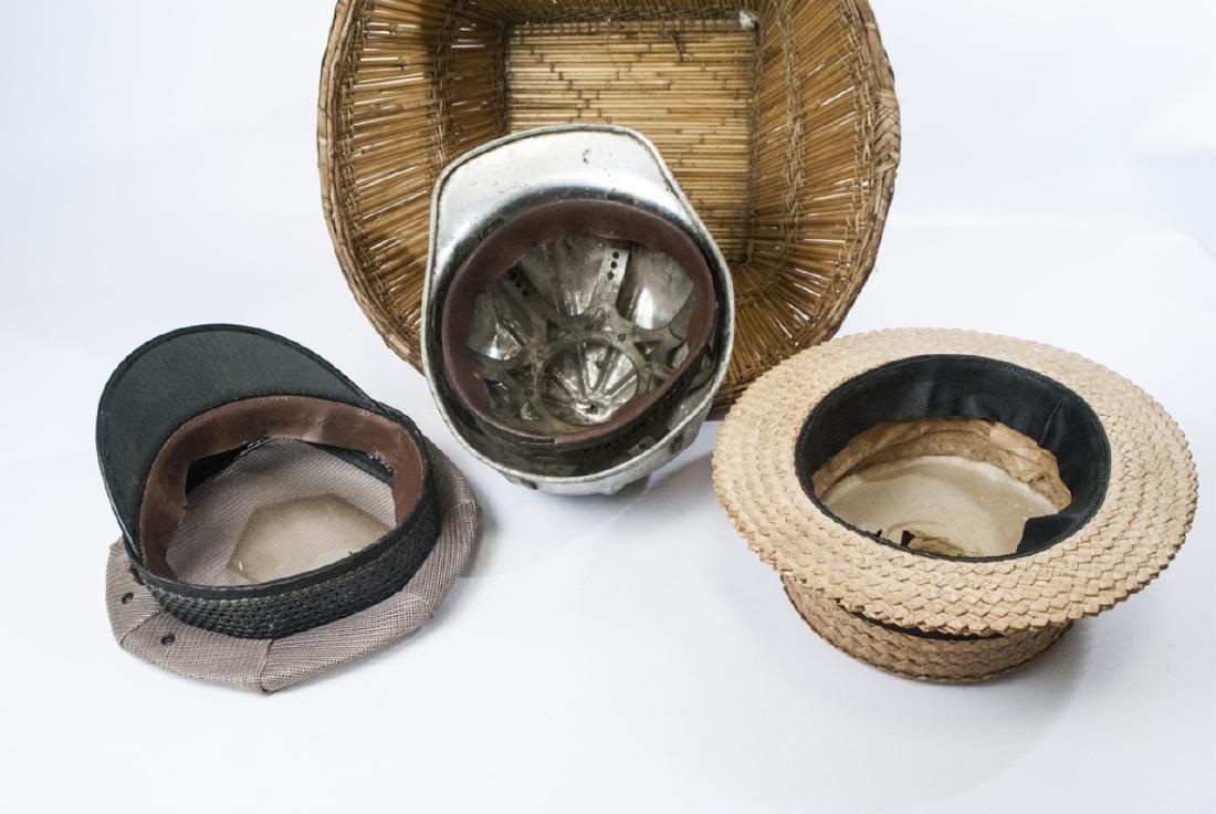 Collection Vintage Hats & Helmet w Handmade Basket - 2