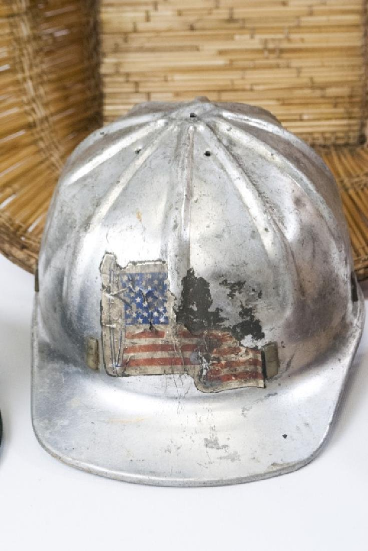 Collection Vintage Hats & Helmet w Handmade Basket - 3