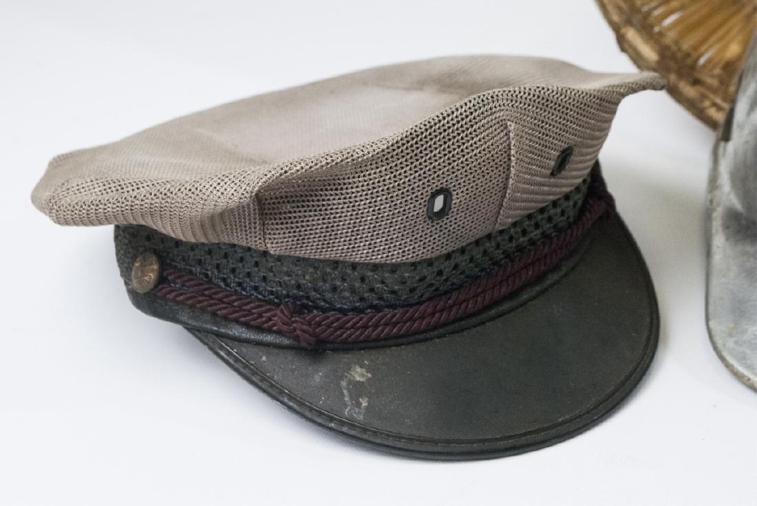 Collection Vintage Hats & Helmet w Handmade Basket - 4