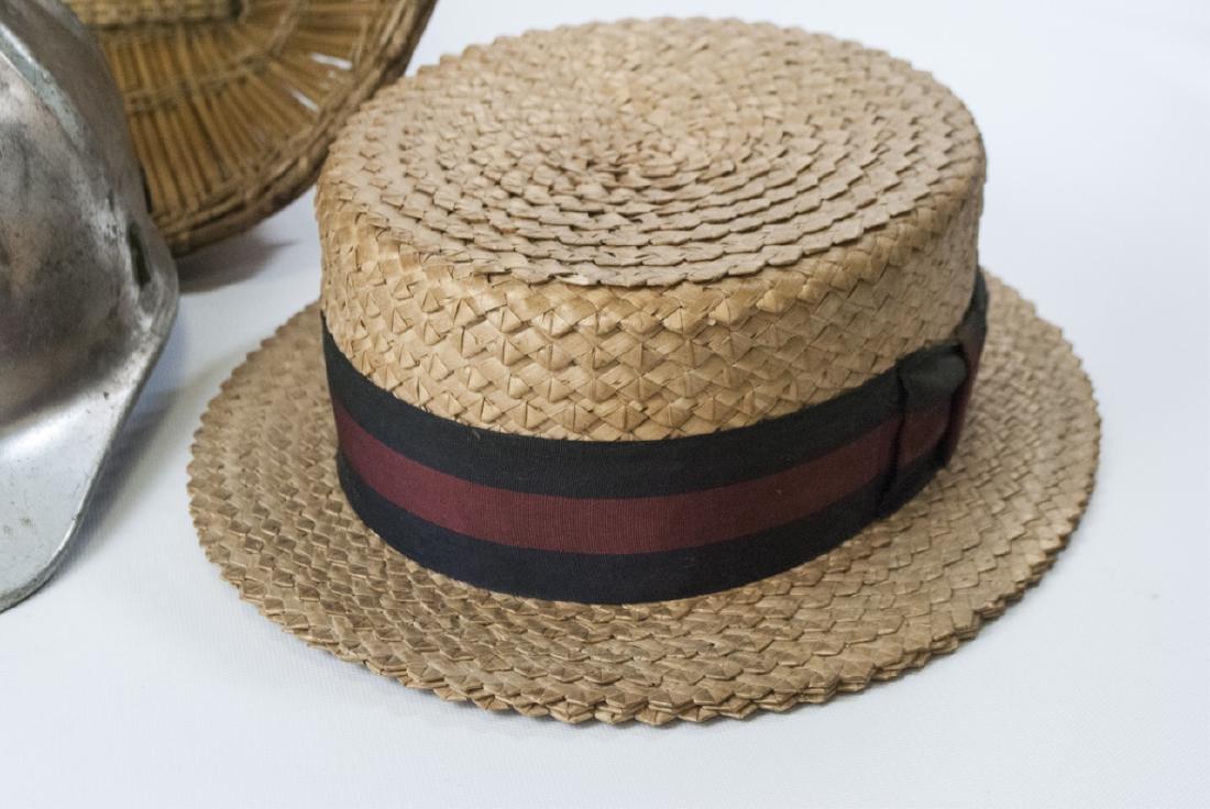 Collection Vintage Hats & Helmet w Handmade Basket - 5