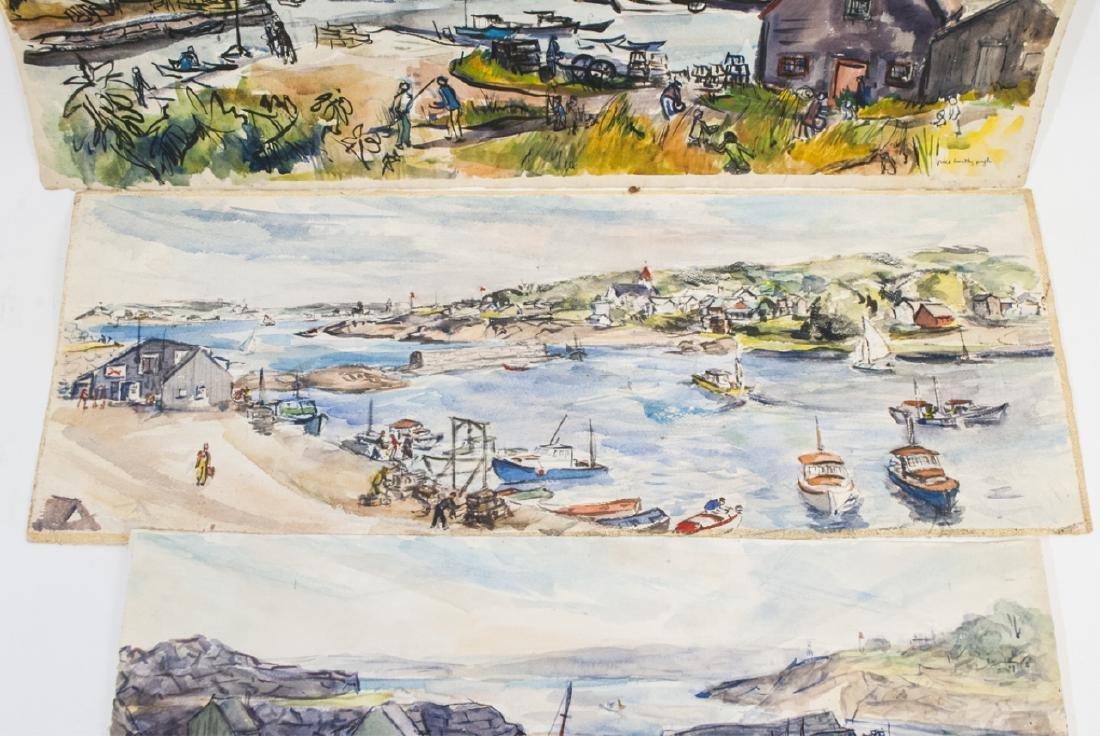 3 Oblong Orig Watercolors by Grace Huntley Pugh - 2