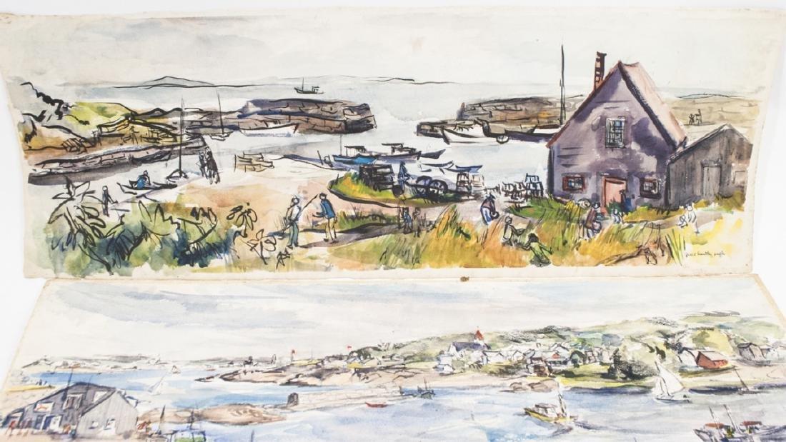 3 Oblong Orig Watercolors by Grace Huntley Pugh - 3