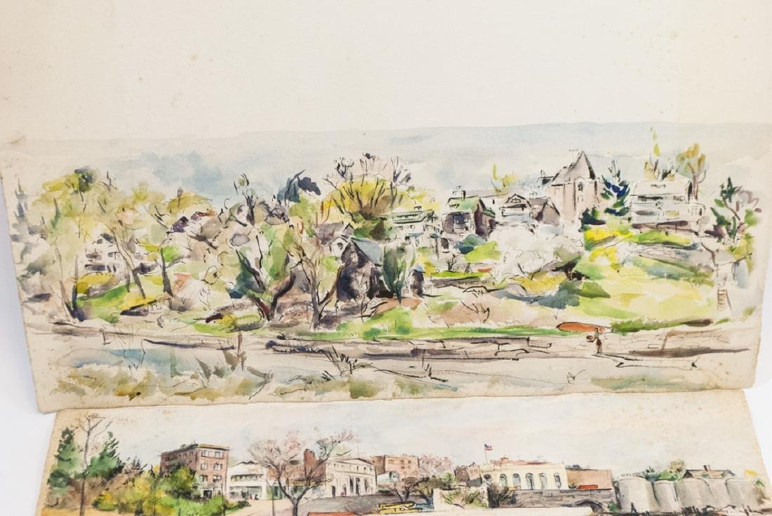 4 Oblong Orig Watercolors by Grace Huntley Pugh - 2