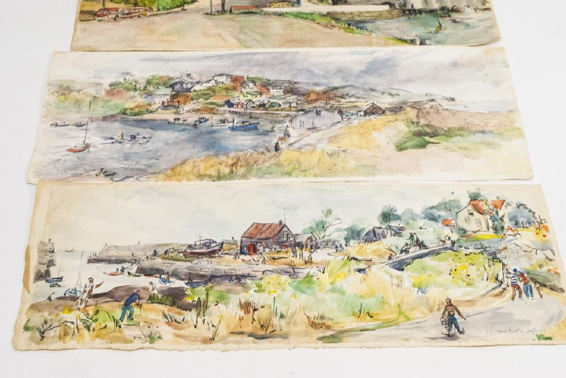 4 Oblong Orig Watercolors by Grace Huntley Pugh - 4