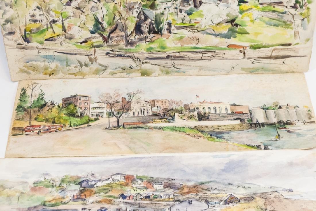 4 Oblong Orig Watercolors by Grace Huntley Pugh - 6