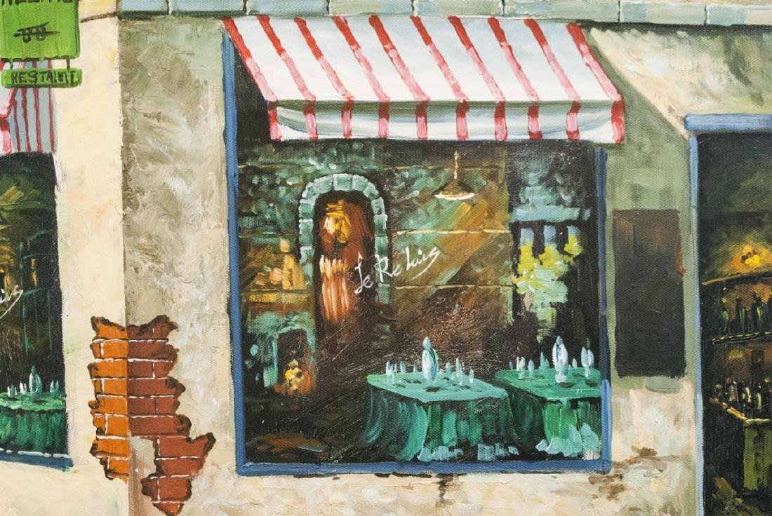 Signed Bessette - Framed Painting of Le Relais - 4