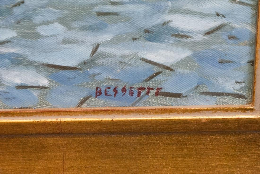 Signed Bessette - Framed Painting of Le Relais - 5